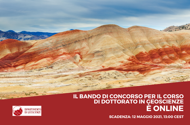 Collegamento a È online il bando di concorso per il Corso di Dottorato in Geoscienze per l'Anno Accademico 2021/2022