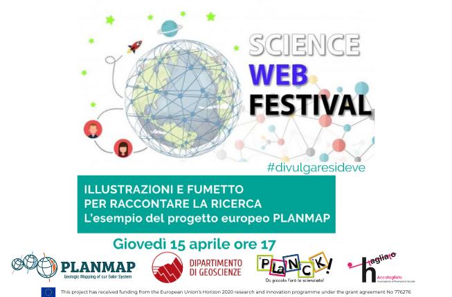 Collegamento a Illustrazioni e fumetto per raccontare la ricerca – L'esempio del progetto europeo PLANMAP al Science Web Festival